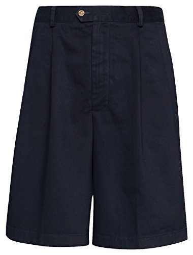 Cutter/buck dbl pleat shorts navy 38t
