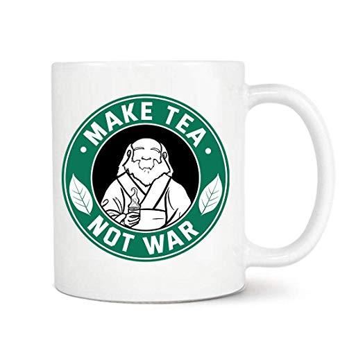 Make Tea Not War Uncle Iroh Mug, Jasmine Dragon Tea, Coworker Gift, Birthday Gift, Ceramic Mug