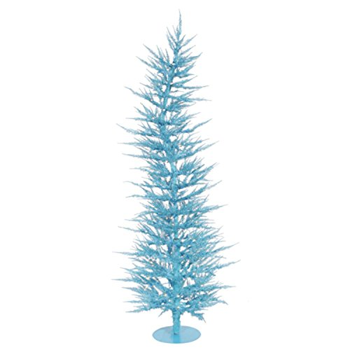 UPC 762152361223, Vickerman Pre-Lit Whimsical Sky Blue Artificial Christmas Tree with Clear Lights, 3'