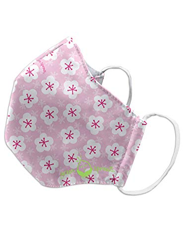 Green Sprouts Child Reusable Mask-Pink Blossoms-24mo+