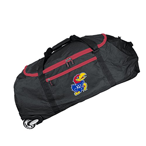 NCAA Kansas Jayhawks Crusader Collapsible Duffel, 36-inches (Kansas Jayhawks Duffle Bag)