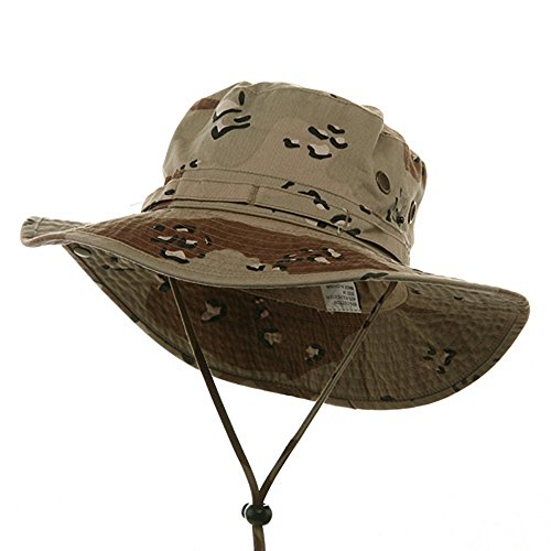 Mega Cap MG Desert Cotton Twill Washed Hunting Outdoor Hat w/Chin Cord (Camo, Large)