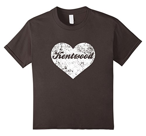 Kids I Love Michigan Shirt, Funny Cute Kentwood Gift Souvenir 6 Asphalt (City Of Kentwood Michigan)