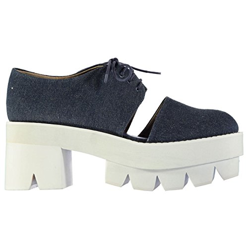 Jeffrey Campbell DELONGE Plattform Schuhe Blau Fashion Damen Sportschuhe Sneakers