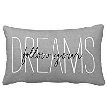 Rustic Gray Follow Your Dreams Mint Green White Aztec Arrows Pattern Home Throw Pillow Case Pillow Case Covers Decorative Cover For Sofa 30X20 Inches