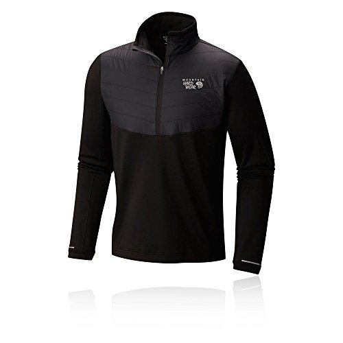 Mountain Hardwear Men's 32 Degree Insulated 1/2 Zip Shirt, Black, -