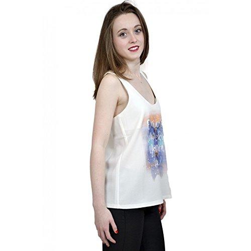 Tiffosi camiseta de tirantes para mujer de tirantes camiseta de tirantes Quetta Fin de Collection blanco