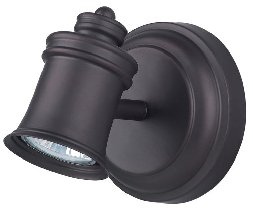 (Canarm ICW299A01ORB10 Taylor 1-Bulb Wall Mount Track Light, Oil Rubbed)