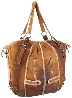 Maze Linz MBA-13-Linz - Bolsa al hombro de cuero nobuck para mujer, color marrón, talla 60x50x18 cm