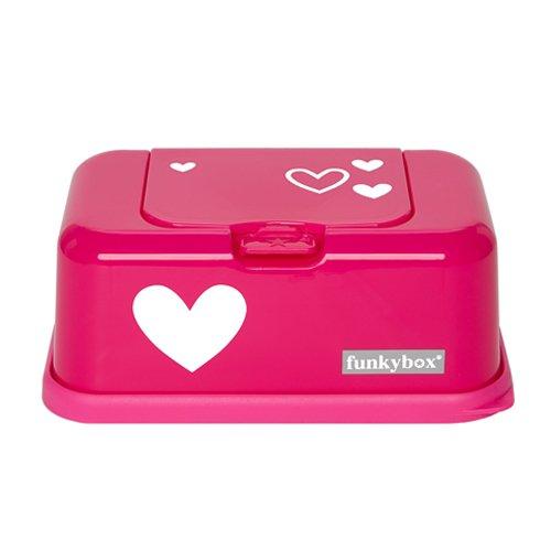 FunkyBox Feuchttücher Box,Pink mit Herz