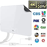1byone 50 Miles Amplified HDTV Antenna with USB Power Supply and 20 Feet