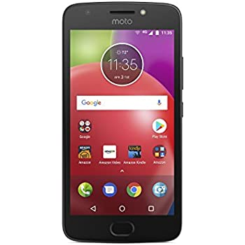 Moto E (4th Generation) - 16 GB - Unlocked (AT&T/Sprint/T-Mobile/Verizon) - Black - Prime Exclusive - with Lockscreen Offers & Ads