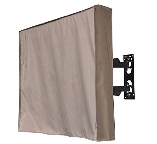 "Outdoor 29"" TV Cover, Brown Weatherproof Universal Protector"