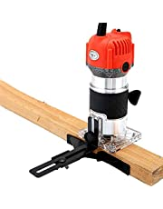 Woodworking Electric Trimmer,33000R/Min Wood Milling Engraving Slotting Trimming Machine, Hand Carving Machine Wood Router