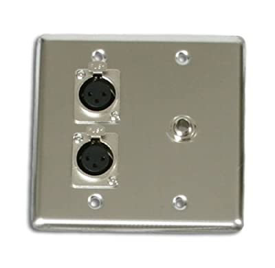 Elite Core OSP Q-2-XLR-1-1/4 Quad Wall Plate with 2-XLR and 1 1/4-Inch Jack