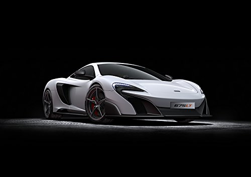 McLaren 675 Lt 2015 Car Art Poster Print on 10 mil Archival Satin Paper