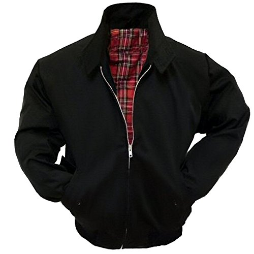 Black Harrington Jacket - Relco Mens Classic Harrington Jacket Black 2XL