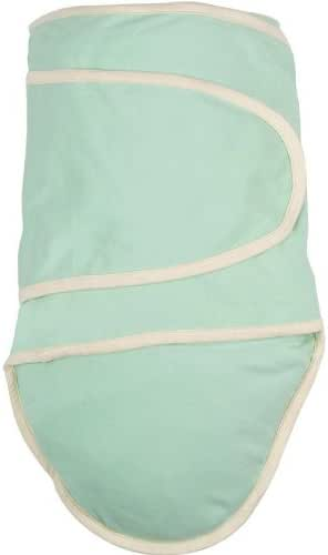 Miracle Blanket Swaddle Unisex Baby, Green with Beige Trim