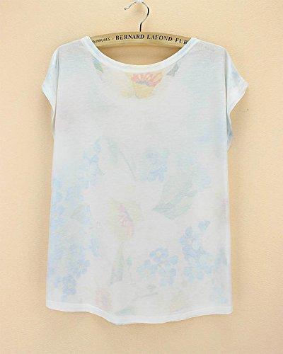 Top T Maglia collo shirt manica estiva corta Girl Aerostat tondo Acvip Woman con wgPqa6Fw