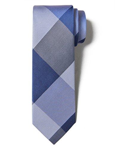 Blue Multi Color Tie (Origin Ties Fashion Buffalo Plaid Men's Silk 2.5