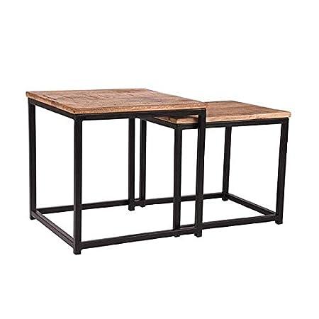 Bauhaus Chairs Set Destin - Mesa Madera de Mango Cuadrado ...