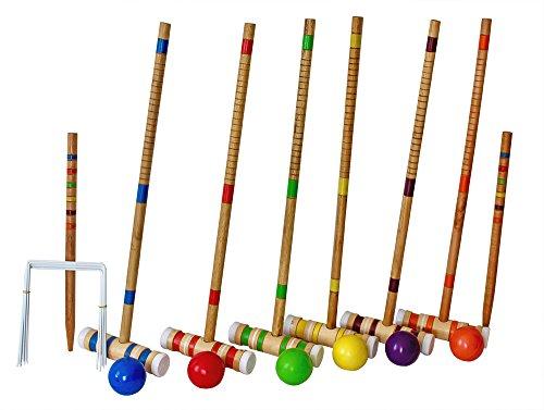 Driveway Portable Croquet Set. Wood & Lawn for Kids