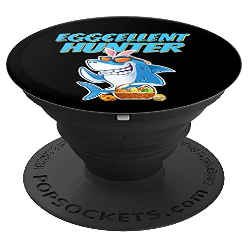 Happy Shark Easter boys Shark Eggcellent Hunter Pop Stand - PopSockets Grip and Stand for Phones and Tablets