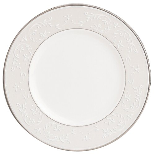 Lenox Opal Innocence Platinum Banded Bone China 9 Accent Plate