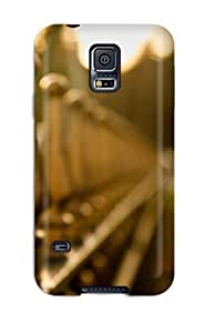 Anti-scratch And Shatterproof Fence With Swirls Phone Case For Galaxy S5/ High Quality Tpu Case