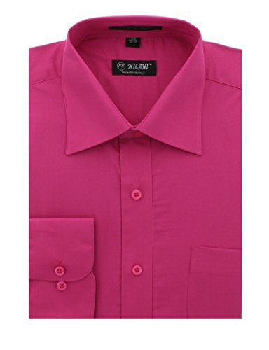 Milani Men's Dress Shirt with Convertible Cuffs 19