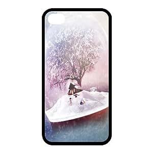 Custom Christmas Back Cover Case for iphone 4,4S JN-522