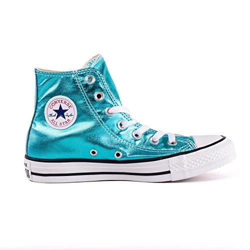 Converse All Star Metallic Hi Top Boots (Fresh Cyan) Fresh Cyan Black White
