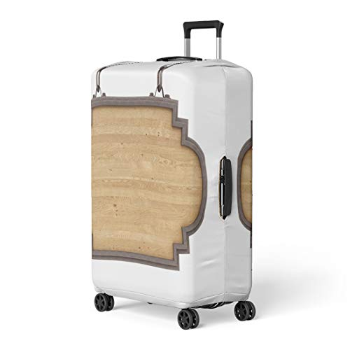 (Pinbeam Luggage Cover Wooden Render of Wood Sign White Board Old Travel Suitcase Cover Protector Baggage Case Fits 22-24 inches)