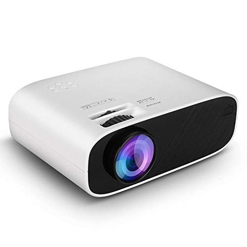 W90 Portable Projector Mini LCD Red and Blue 3D 480P Mirroring Screen Version Projector White 100V-240V with 30,000 Hrs…
