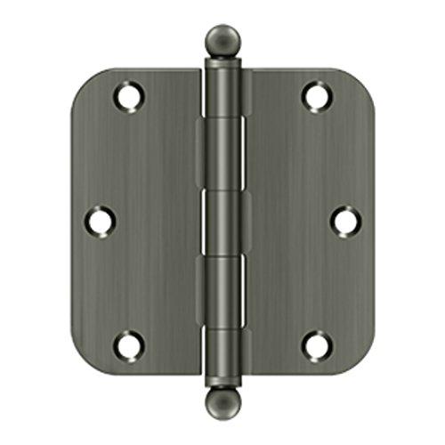 3.5 in. x 3.5 in. x 0.63 in. Radius Steel Hinge (Set of 10) (Antique ()