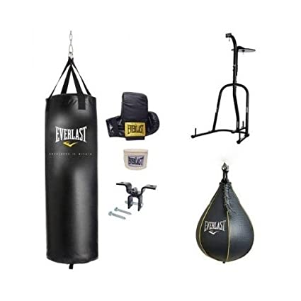 f797bf3d11d Amazon.com  Everlast Dual Station Heavy Bag Stand