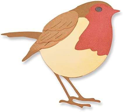 Die Cut Craft Embellishments 3 layered Christmas birds Felt Robins