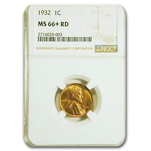1932 Lincoln Cent MS-66+ NGC (Red) Copper MS-66 NGC