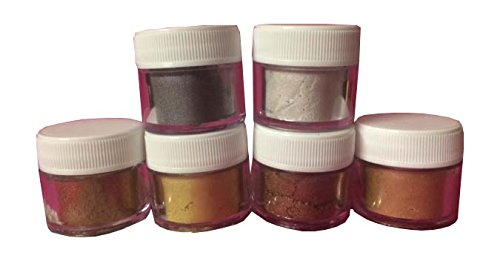 Oh! Sweet Art Luster Dust Set (6 COLORS) 4 grams each Container By Corp