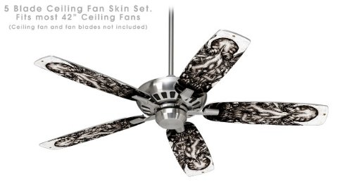 Cthulhu Ceiling Fan Skin Kit for 42-inch - Vinyl Little Cthulhu