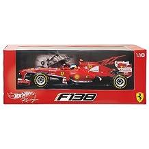 Hot wheels BCK14 Ferrari F2013 F138 Fernando Alonso Formula 1 2013 F1 1-18 Diecast Car Model