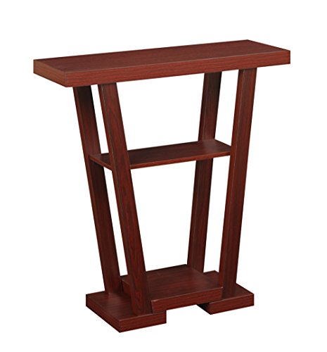 Convenience Concepts Modern Newport V Console Table, Mahogany