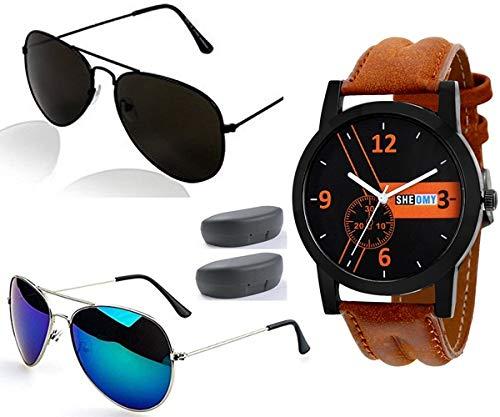 8375c2f38a1 Sheomy Stylish Sunglasses 3 Combo Set Of 3 Uv Protect Aviators Unisex  Sunglasses   Goggles