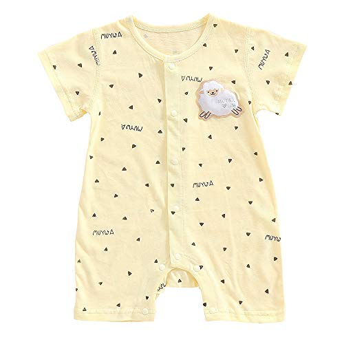 MuYwa Baby Boys and Baby Girls Romper Pajamas, Onesies Soft Cotton Romper Creeper for Easy Diaper Changes Snap up Romper