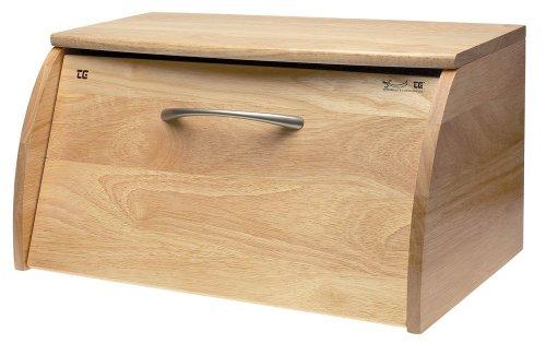 T&G Scimitar Brotkasten aus natürlichem Hevea-Holz