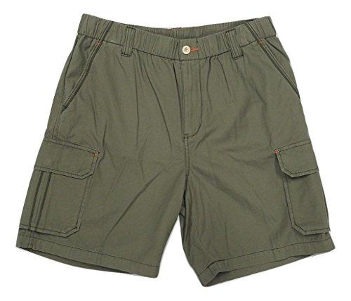 Tommy Bahama Survivalist Elastic Waist Cargo Shorts (Color Moss, Size XL) (Pleated Cargo)