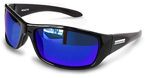(Newport Polarized Regatta BiFocal Black with Blue Mirror +3.00)