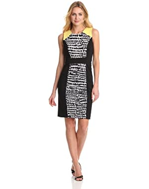 Calvin Klein Women's Mixed-Print Dress