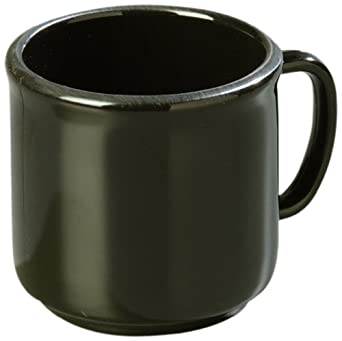 Carlisle 4305203 Black 10-oz. Stackable Mug (Case of 12)