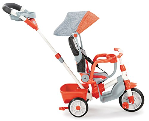Little Tikes 5-in-1 Deluxe Ride & Relax, Reclining Trike - Red